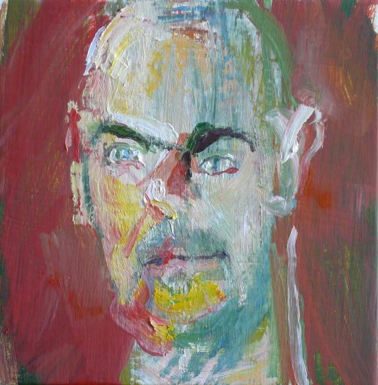schilderij pratende mensen