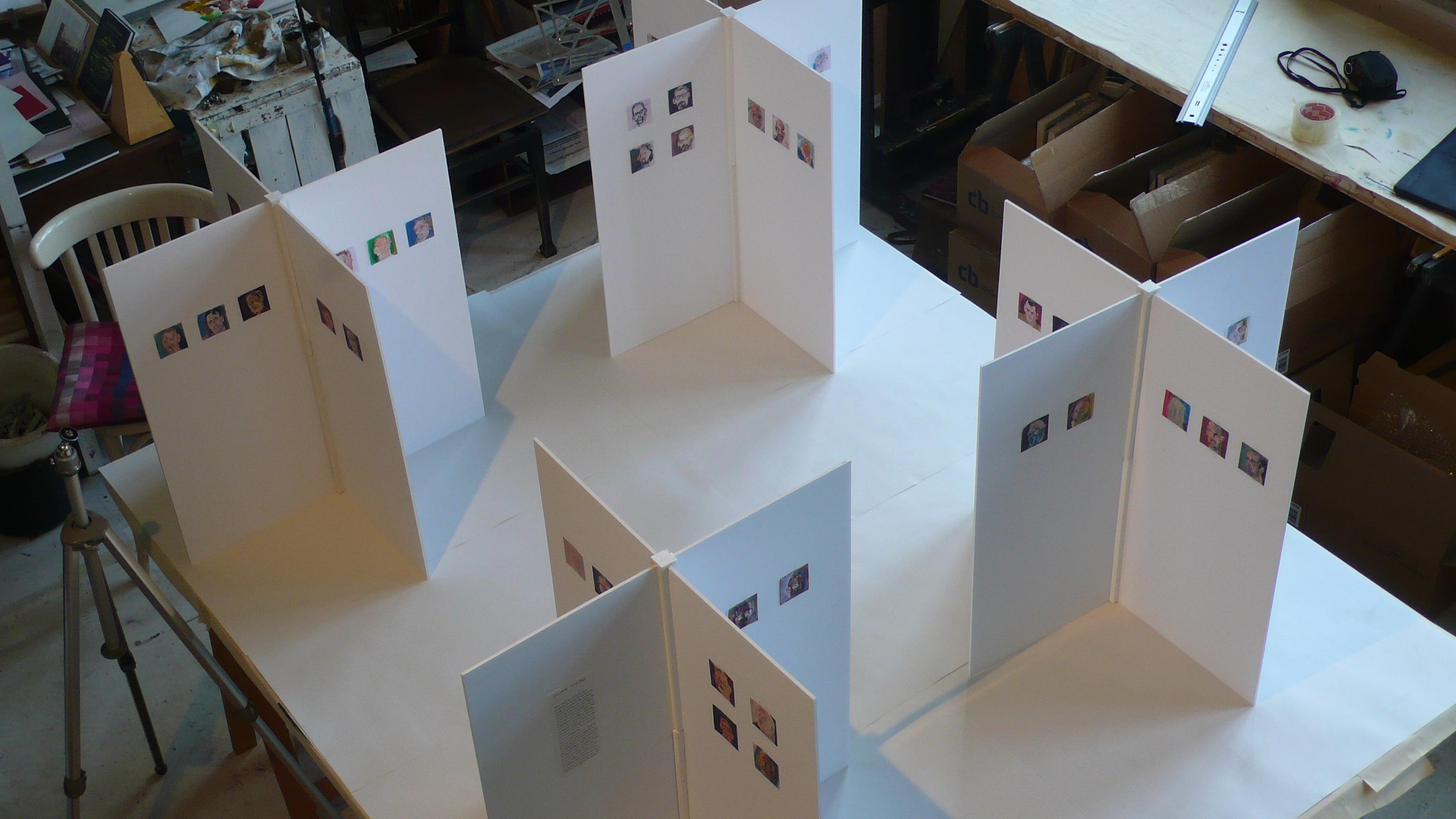 Maquette reizende tentoonstelling (niet publiek)