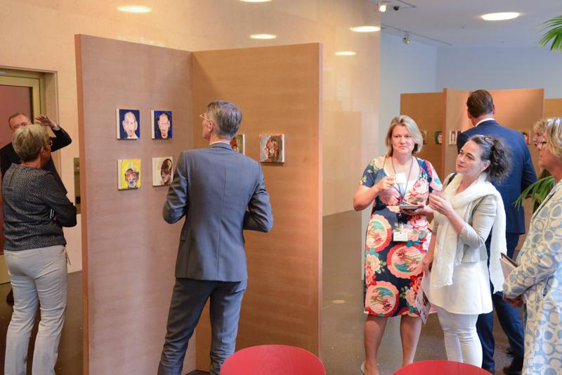 Opening tentoonstelling in Ministerie van Veiligheid en Justitie, 10 juli 2017